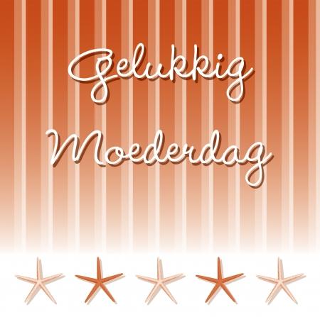 Dutch  Happy Mother s Day  card Ilustração