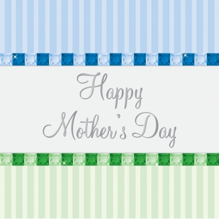 toned: English two toned Mother s Day card Illustration