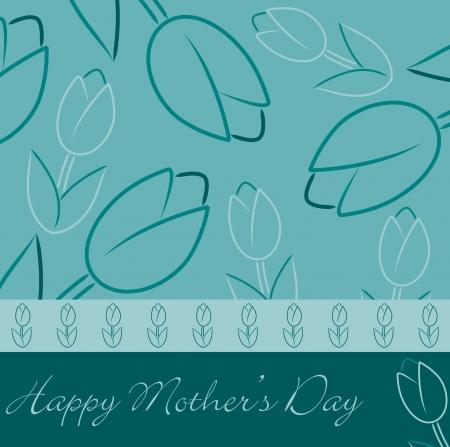 Happy Mother s Day  tulip card Ilustração