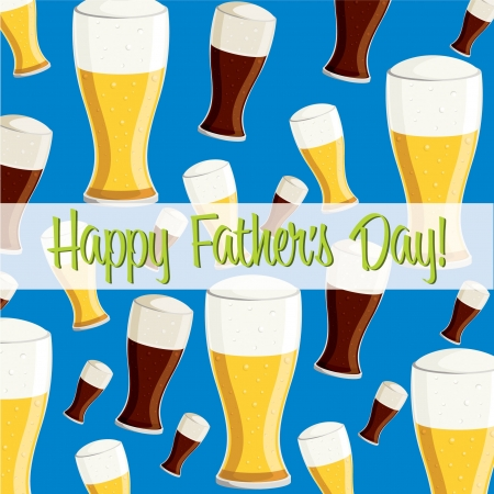 Beer theme Father s Day card Vector