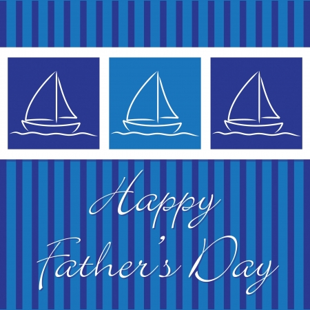 navy blue background: Yacht  Happy Father s Day  card
