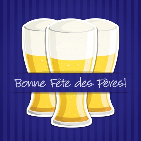 beer card:  Happy Father s Day  beer card in vector format