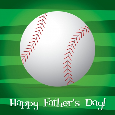 baseball diamond: Bright baseball Happy Father s Day card in vector format  Illustration