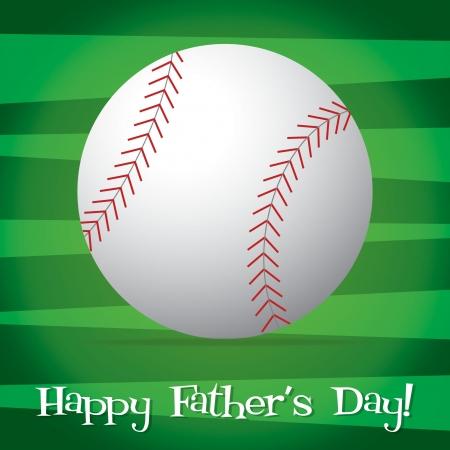baseball diamond: Bright baseball Happy Father s Day card in vector format  Illustration