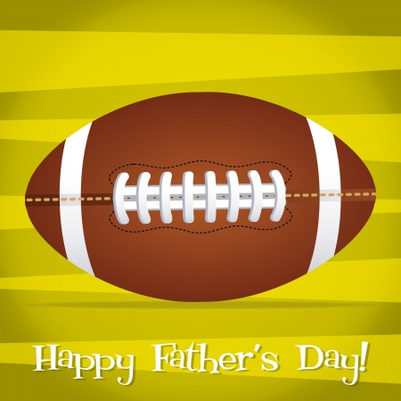 Bright Rugby ball Happy Father s Day card Vector