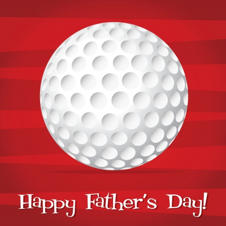Bright golf ball Happy Father s Day card Vector