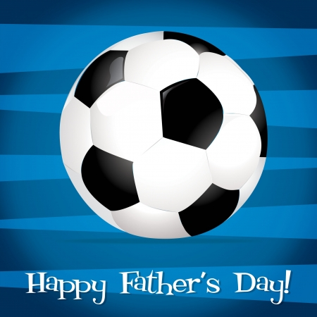 father s day: Bright football ball Happy Father s Day card