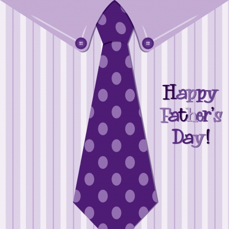 Bright shirt and tie  Happy Father s Day  neck tie card Vector