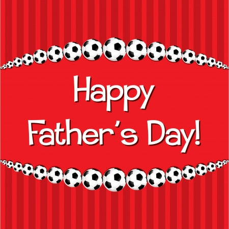Soccer theme Father s Day card Vector