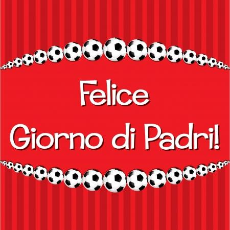 Italian Soccer theme Father s Day card Vector