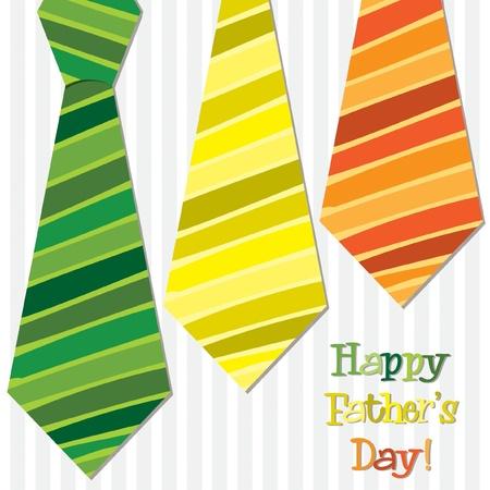 lazo regalo: Día de tarjeta corbata brillante feliz del padre s