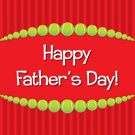 Tennis theme Father s Day card Vector