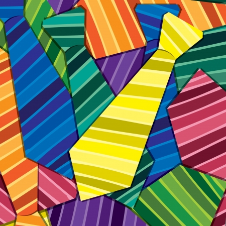 neck tie: Striped tie sticker card background