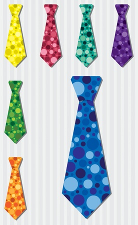 grand sons: Bright bubble silk tie stickers