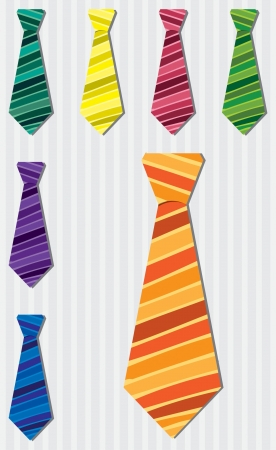 red tie: Bright stripe silk tie stickers