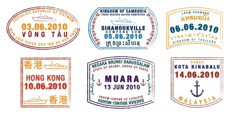 chop: Asian passport stamps
