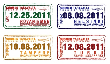 lapland: Passport stamps from Finland