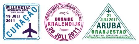 Paszport znaczków Aruba, Bonaire i Curacao, znane także jako ABC wysp, Caribees lub Małych Antyli na Karaibach