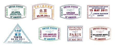 los: The top 10 world s busiest airports passport stamps Illustration