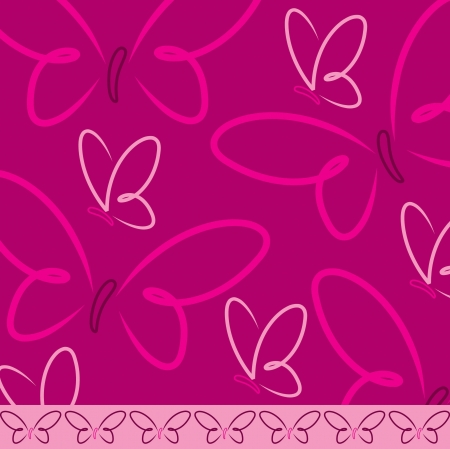 fuchsia: All occasion butterfly card in vector format  Illustration