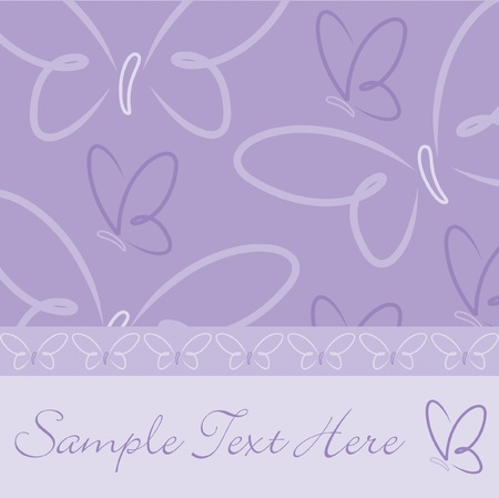 sympathy: All occasion butterfly card in vector format  Illustration