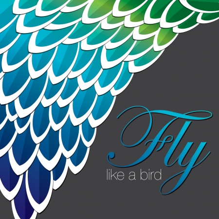 Peacock inspired abstract feather background in vector format