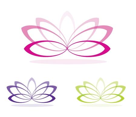 lily flower: Eenvoudige lotusbloemen in vector-formaat