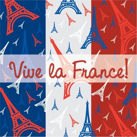 bastille: Bastille Day card in vector format  Illustration