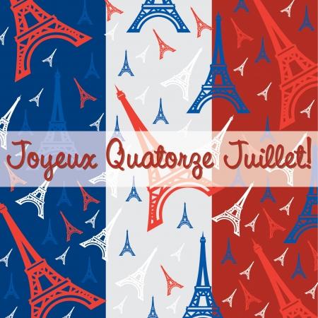 gallic: Bastille Day card in vector format  Illustration
