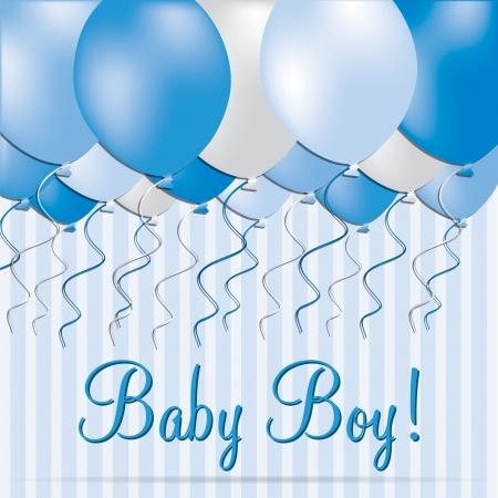 baby grand: Baby Boy card in vector format