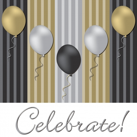 Elegant balloon celebration card in vector format