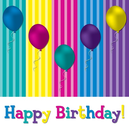 Happy Birthday balloon card in vector format  Vector