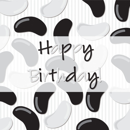 liquorice: Jelly bean Happy Birthday card in vector format