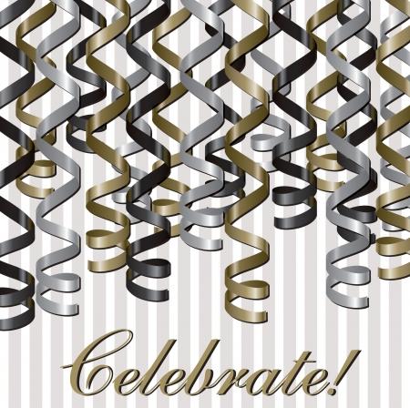 fondo de graduacion: Curling cinta celebraci�n inspirada en formato vectorial