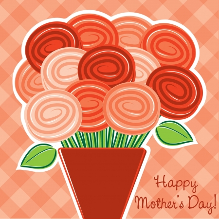 Rose  Happy Mother s Day  card in vector format  Vector
