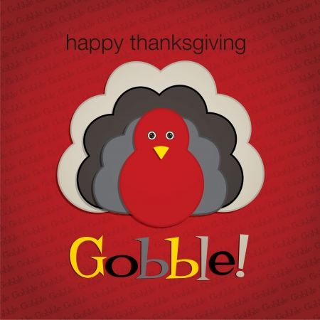 Hiding turkey felt Thanksgiving card in vector format  Vector
