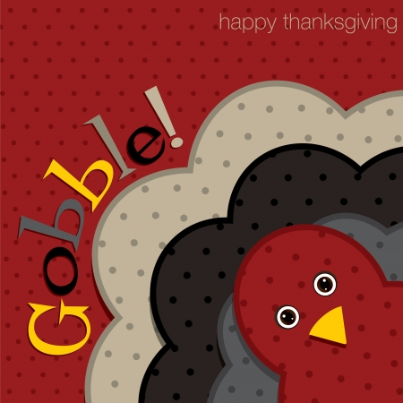 thanksgiving turkey: Hiding turkey spotty Thanksgiving card in vector format  Illustration