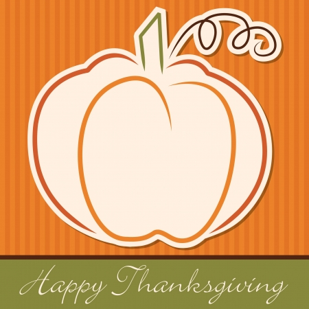 Hand drawn pumpkin Thanksgiving card in vector format  Illustration