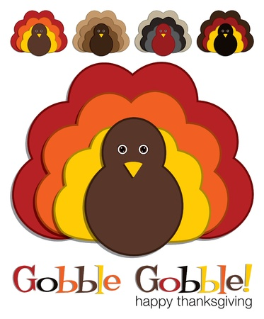 Turkey stickers in vector format