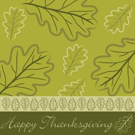 p�lerin: Main dessin�e carte Thanksgiving gland feuille en format vectoriel