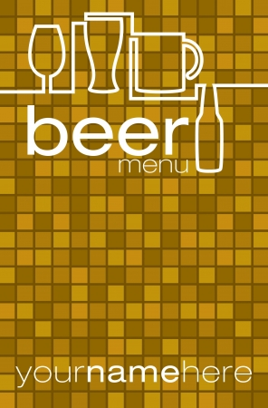 schooner: Beer list menu in vector format