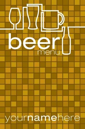night bar: Men� de la lista de cerveza en formato vectorial