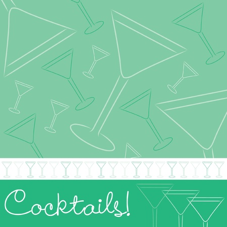 bachelorette: Hand drawn cocktail card in vector format