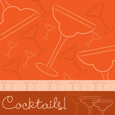 engagement party: Hand drawn cocktail card in vector format