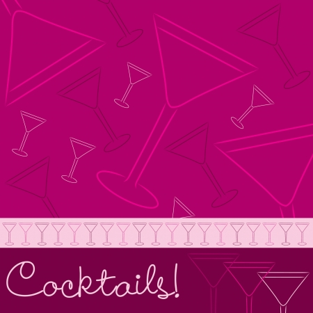 Hand drawn cocktail card in vector format Stock Vector - 19469771