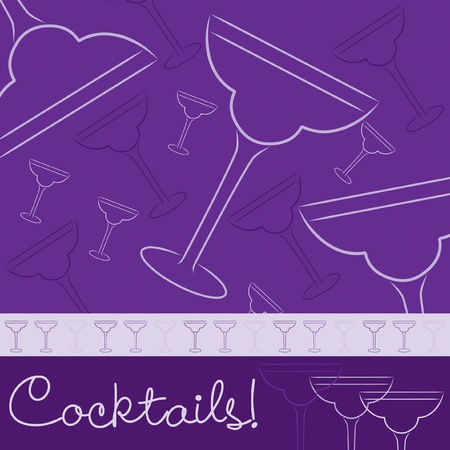 bachelorette party: Hand drawn cocktail card in vector format