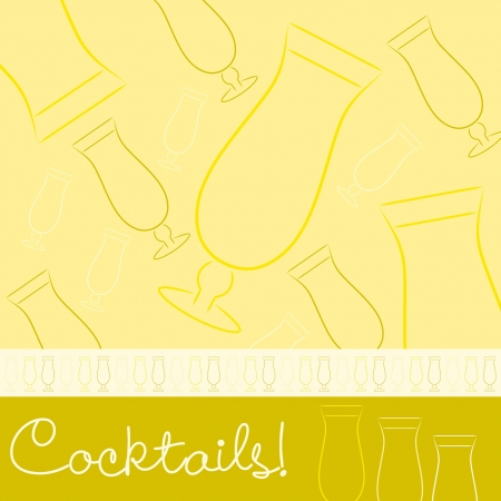 Hand drawn cocktail card in vector format  Vector