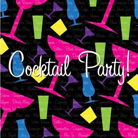 margherita: Bright cocktail Invitation card in vector format