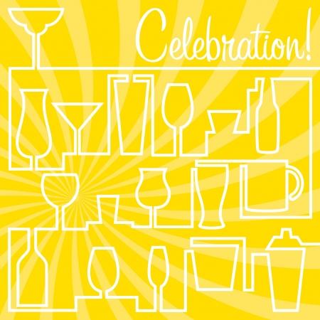 Bright Celebration Card in vector format  Vector