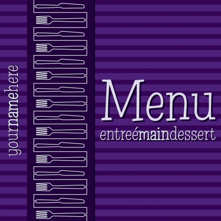 bright: Retro inspired menu with a modern touch in vector format  Illustration